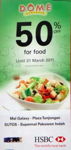 HSBC Restaurant Discount