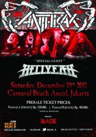 Anthrax Tour Indonesia