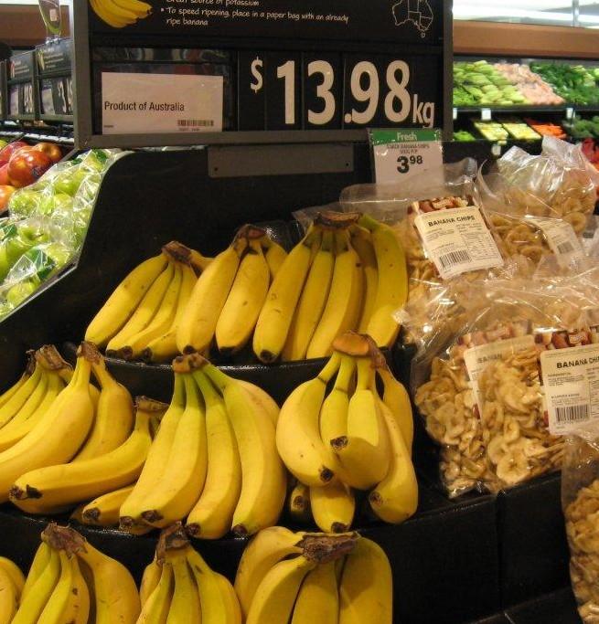 Bananas $14/kg in Melbourne, July 2011