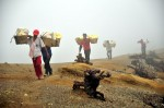 Sulphur Rock Collectors, Ijen Plateau, East Java