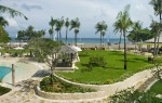 View from the lobby to the beach at the Bali Baruna Hotel
