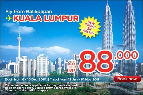 Balikpapan Flights to Kuala Lumpur