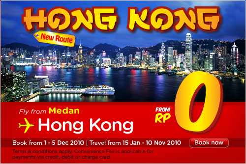 Medan to Hong Kong Flights