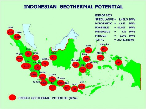 Indonesian Geothermal Potential Map