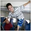 Annoying kids on plane
