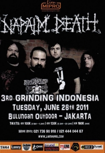 Napalm Death Tour Indonesia