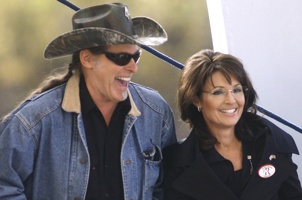 Ted Nugent with his buddy Sarah Palin