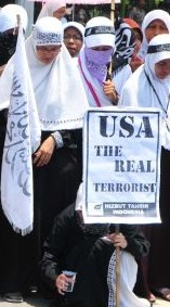 Hizbut Tahrir Indonesia Obama Protest