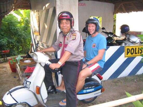 Bali Tourist Police and Visitor