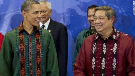 SBY & Obama in high fashion batik