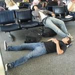 Sleeping in Airport