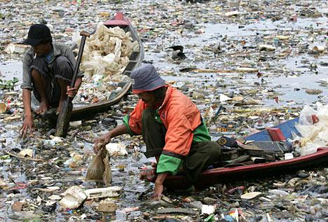 Rubbish in River